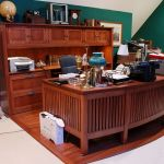 Home Office Desk and Credenza